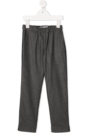 BONPOINT Virgin wool stripe-trim trousers
