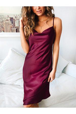 YOINS Satin Halter Sleeveless Dress