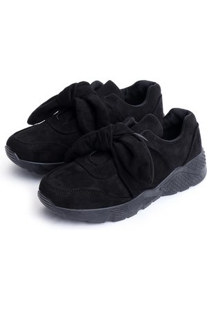 YOINS Bowknot Design Casual Suede Sneakers
