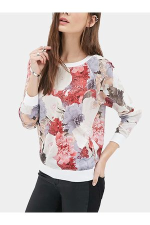 YOINS Floral Print Sweatshirt
