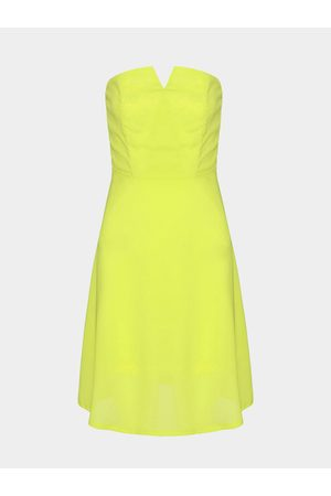 YOINS Strapless Dress with Zip Back
