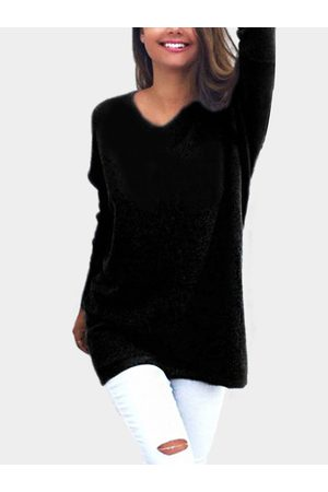 YOINS Casual Long Sleeves V-neck Sweater