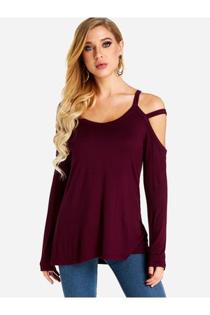 YOINS Cold Shoulder Long Sleeves Casual Top