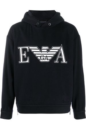 Emporio Armani Embroidered logo hoodie