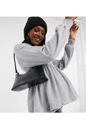 ASOS ASOS DESIGN Maternity smock hoodie in marl