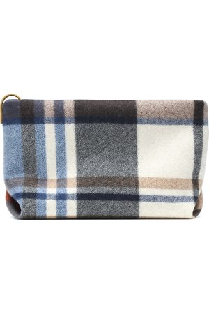 Loro Piana Inside Out cashmere and leather pouch