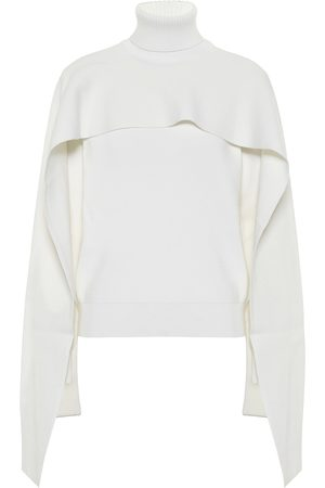 Givenchy Cotton and wool cape sweater