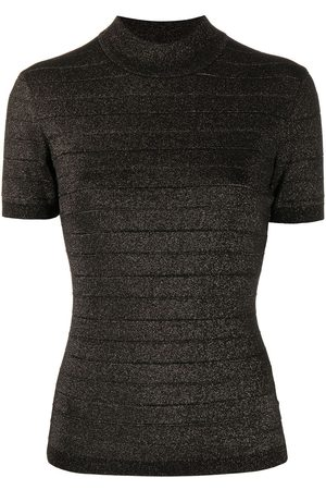 Karl Lagerfeld Short-sleeve lurex top