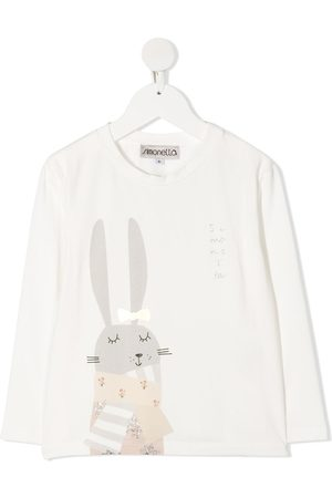 Simonetta Rabbit-print crew-neck Tee