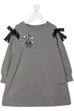 Simonetta Bow-detail sweatshirt dress