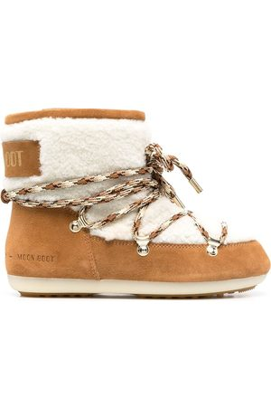 Moon Boot Women Lace-up Boots - Shearling-trimmed lace-up boots