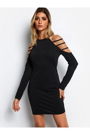 YOINS Strappy Design Long Sleeves Mini Dress