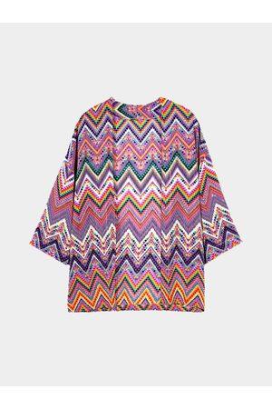 YOINS Geometrical Mid Length Duster Kimono