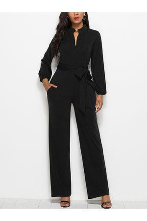 YOINS Belt Design Long Sleeves Jumpsuits
