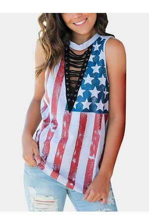 YOINS Stars and Stripes Casual Tank Top