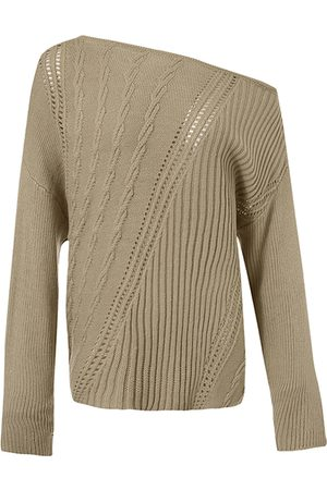 YOINS Hollow Design One Shoulder Long Sleeves Knit Top