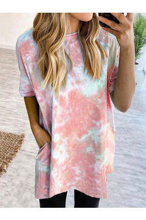 YOINS Tie Dye Short Sleeves Dress