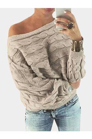 YOINS Off Shoulder Dolman Sleeve Sweater
