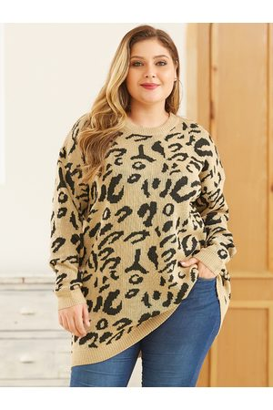YOINS Plus Size Leopard Jumper