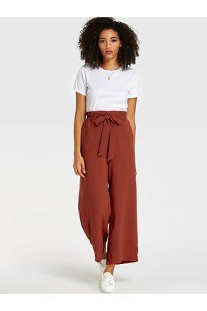 YOINS Belt Design Stretch Waistband Pants