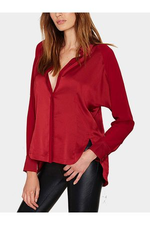 YOINS Retro Slits Long-sleeved Shirt with Chiffon Panel