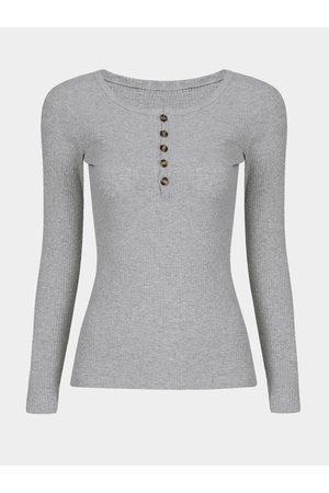 YOINS Long Sleeves Button Clourse Round Neck T-shirt