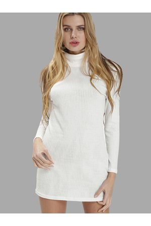 YOINS Sexy High Neck Long Sleeves Knit Casual Dress