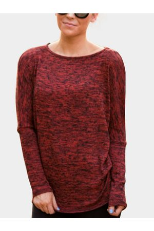 YOINS Round Neck Long Sleeves Casual Tee