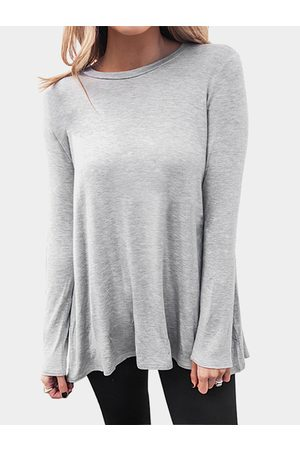 YOINS Solid Color Long Sleeves Loose T-shirt