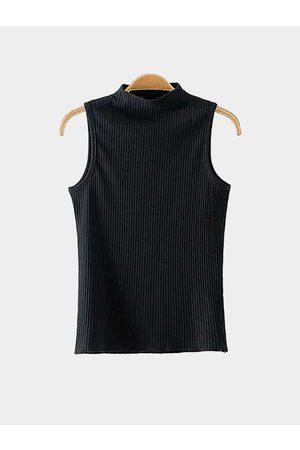 YOINS High Neck Knit Crop Top