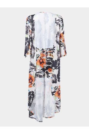YOINS Random Floral Print Long Sleeves Top & Drawstring Waist Shorts Co-ord