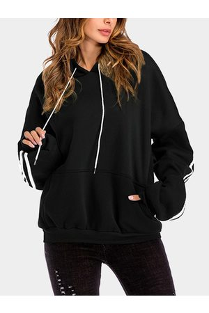 YOINS Pullover Pouch Pocket Long Sleeves Hoodie