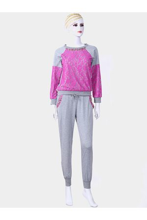 YOINS Rose Casual Lace Beaded Suit