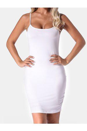 YOINS Auxo Backless Design Scoop Neck Bodycon Dress