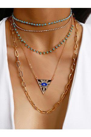 YOINS Gold Crew Neck Necklace