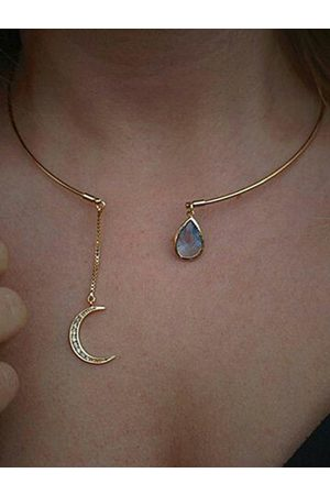 YOINS Gold Moon Galaxy Necklace
