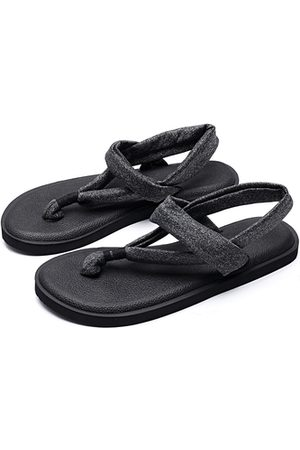 YOINS Casual Solid Color Flat Thong Sandals in