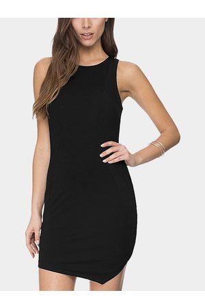 YOINS Asymmetrical Hem Sleevesless Dress