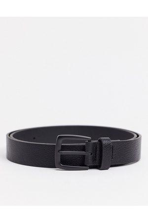 ASOS Men Belts - Wide belt in faux leather with matte buckle detail