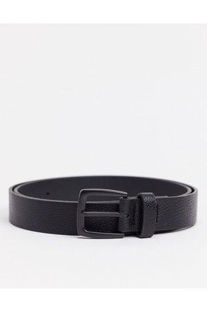 ASOS Wide belt in faux leather with matte buckle detail