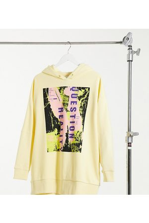 Collusion Question reality print hoodie in pale