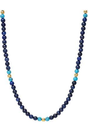 Nialaya Lapis lazuli beaded necklace