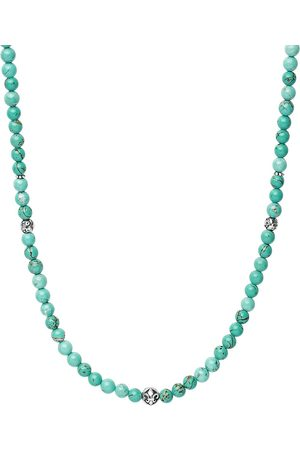 Nialaya Turquoise beaded necklace