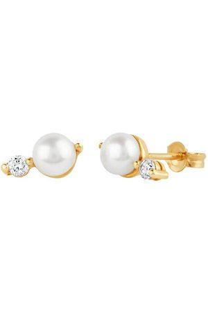 Dinny Hall 14kt yellow diamond pearl Shuga earrings