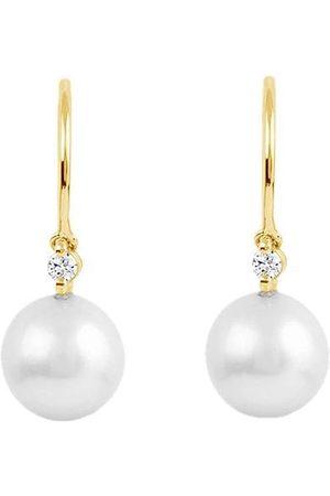 Dinny Hall 14kt yellow diamond pearl Shuga drop earrings