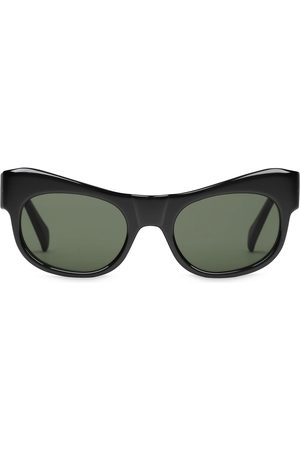 Gucci Curved rectangle-frame sunglasses