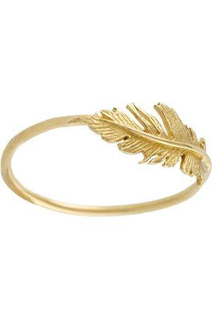 Alex Monroe Women Rings - 18kt yellow Plume ring