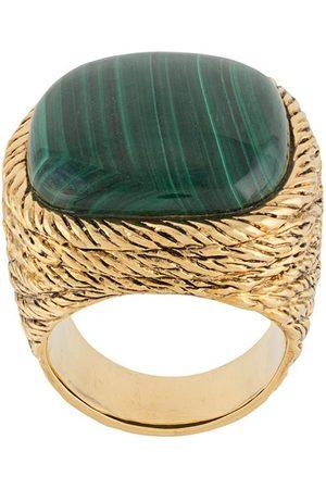 Aurélie Bidermann Women Rings - Miki malachite-embellished ring