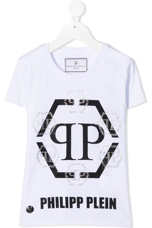 Philipp Plein Hexagon crystal logo T-shirt