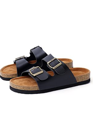 YOINS Casual Metalic Buckle Slippers